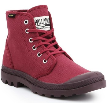 kengät Miehet Korkeavartiset tennarit Palladium Pampa HI Oryginale 75349-604-M burgundy