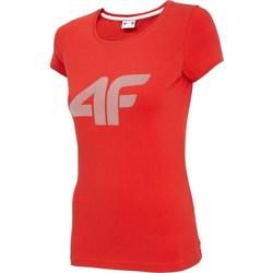 vaatteet Naiset Lyhythihainen t-paita 4F TSD005 Punainen