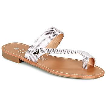 kengät Naiset Varvassandaalit Les Petites Bombes EVA Vaaleanpunainen / Hopea
