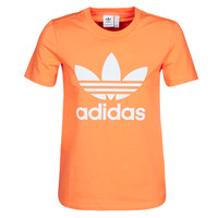 vaatteet Naiset Svetari adidas Originals TREFOIL TEE Oranssi