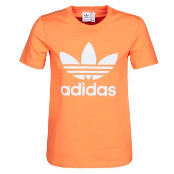 vaatteet Naiset Svetari adidas Originals TREFOIL TEE Orange
