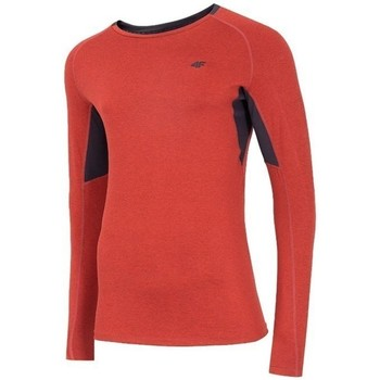 vaatteet Miehet T-paidat pitkillä hihoilla 4F TSMLF002 Oranssin väriset