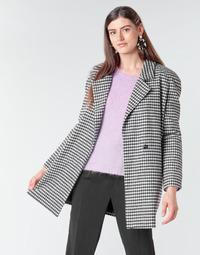 vaatteet Naiset Paksu takki Betty London NIVER Musta / Valkoinen
