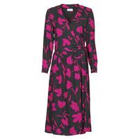 vaatteet Naiset Pitkä mekko Betty London NOLIE Musta / Vaaleanpunainen