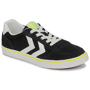 kengät Lapset Matalavartiset tennarit Hummel STADIL 3.0 JR Black / White