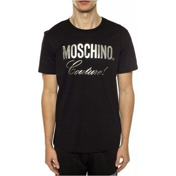 vaatteet Miehet Lyhythihainen t-paita Moschino ZPA0715 Musta