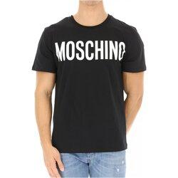 vaatteet Miehet Lyhythihainen t-paita Moschino ZPA0705 Musta