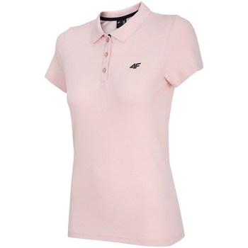 vaatteet Naiset Lyhythihainen poolopaita 4F TSD007 Vaaleanpunaiset
