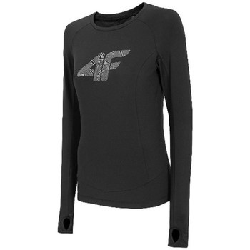 vaatteet Naiset T-paidat pitkillä hihoilla 4F TSDLF001 Mustat