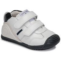 kengät Pojat Matalavartiset tennarit Biomecanics BIOGATEO SPORT Valkoinen