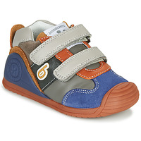 kengät Pojat Matalavartiset tennarit Biomecanics ZAPATO SPORT VELCRO Grey / Blue / Orange