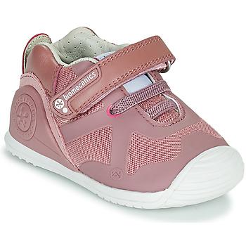 kengät Tytöt Matalavartiset tennarit Biomecanics ZAPATO ELASTICO Vaaleanpunainen