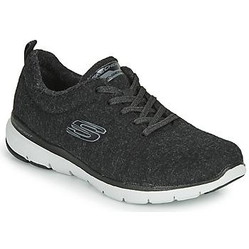 kengät Naiset Fitness / Training Skechers FLEX APPEAL 3.0 PLUSH JOY Musta