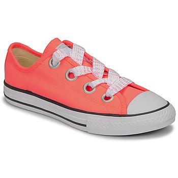 kengät Tytöt Matalavartiset tennarit Converse CTAS BIG EYELET OX LAVA GLOW/WHITE/BLACK Pink