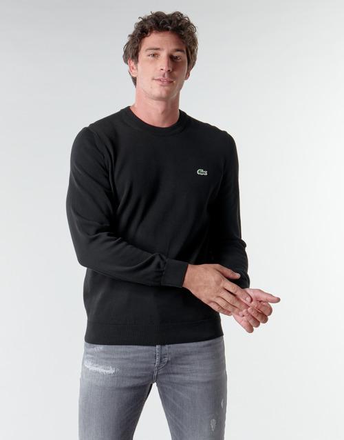 vaatteet Miehet Neulepusero Lacoste AH1985 Musta