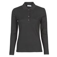 vaatteet Naiset Pitkähihainen poolopaita Lacoste PF5464 Musta