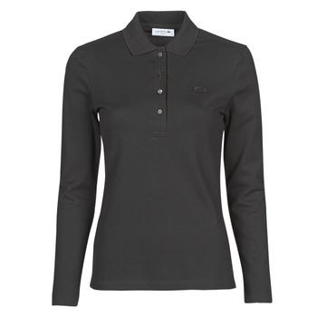 vaatteet Naiset Pitkähihainen poolopaita Lacoste PF5464 Black