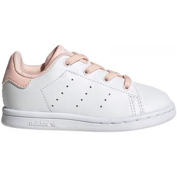 kengät Lapset Matalavartiset tennarit adidas Originals Stan smith el i Valkoinen