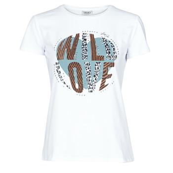 vaatteet Naiset Lyhythihainen t-paita Liu Jo WF0098-J5003 Valkoinen