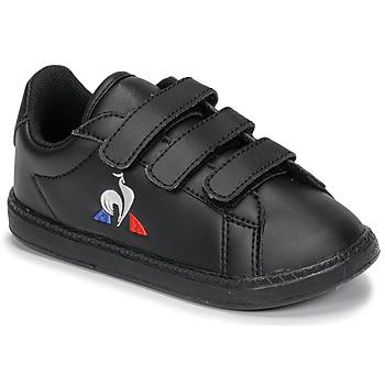kengät Lapset Matalavartiset tennarit Le Coq Sportif COURTSET INF Black