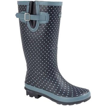kengät Naiset Kumisaappaat Stormwells  Pale Blue Polka Dot/Navy