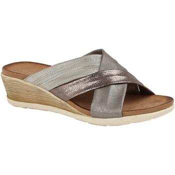 kengät Naiset Sandaalit Cipriata  Pewter/Silver/Bronze