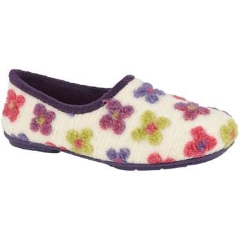 kengät Naiset Tossut Sleepers  Cream/Multicoloured