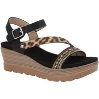 kengät Naiset Sandaalit ja avokkaat Cipriata  Black/Leopard Print