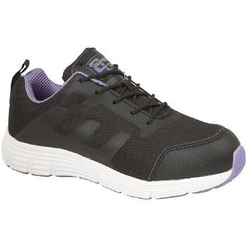 kengät Naiset Matalavartiset tennarit Grafters  Black/Lilac