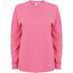 vaatteet Miehet Svetari Skinni Fit Slogan Bright Pink