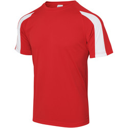 vaatteet Miehet Lyhythihainen t-paita Just Cool JC003 Fire Red/Arctic White
