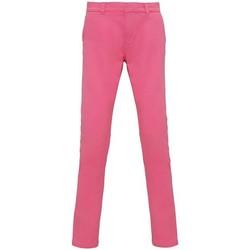 vaatteet Naiset Chino-housut / Porkkanahousut Asquith & Fox Chino Pink Carnation