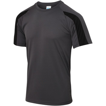 vaatteet Miehet Lyhythihainen t-paita Just Cool JC003 Charcoal/Jet Black
