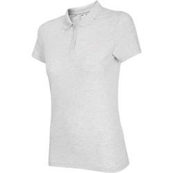 vaatteet Naiset Lyhythihainen t-paita 4F NOSH4 TSD007 Biały Melanż Valkoiset, Harmaat
