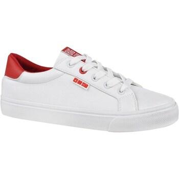 kengät Naiset Matalavartiset tennarit Big Star EE274311 Valkoiset,Punainen