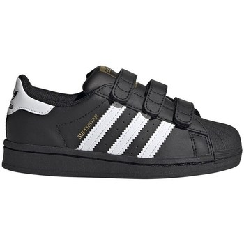 kengät Lapset Matalavartiset tennarit adidas Originals Superstar CF C Mustat