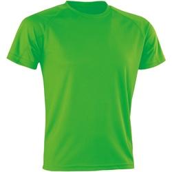 vaatteet Lyhythihainen t-paita Spiro Aircool Flo Green