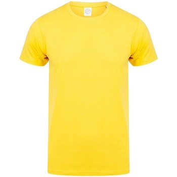 vaatteet Miehet Lyhythihainen t-paita Skinni Fit SF121 Yellow