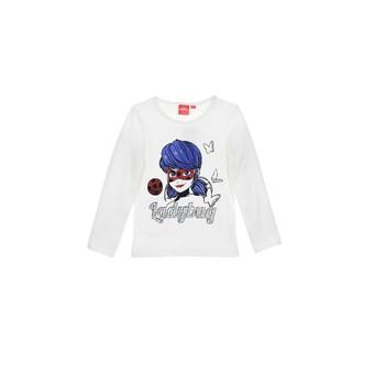 vaatteet Tytöt T-paidat pitkillä hihoilla TEAM HEROES  MIRACULOUS LADYBUG Valkoinen