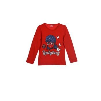 vaatteet Tytöt T-paidat pitkillä hihoilla TEAM HEROES  MIRACULOUS LADYBUG Punainen