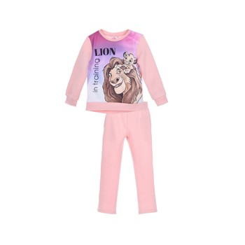 vaatteet Tytöt Verryttelypuvut TEAM HEROES  JOGGING  LION KING Vaaleanpunainen