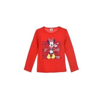 vaatteet Tytöt T-paidat pitkillä hihoilla TEAM HEROES  MINNIE Punainen