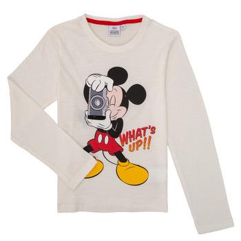 vaatteet Pojat T-paidat pitkillä hihoilla TEAM HEROES  MICKEY Valkoinen
