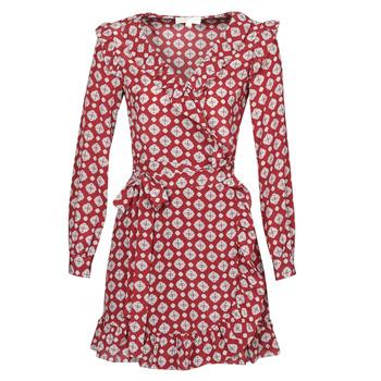 vaatteet Naiset Lyhyt mekko MICHAEL Michael Kors LUX PINDOT WRAP DRS Bordeaux