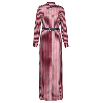 vaatteet Naiset Pitkä mekko MICHAEL Michael Kors WARM PLAYFL SHIRT DR Bordeaux / White / Laivastonsininen