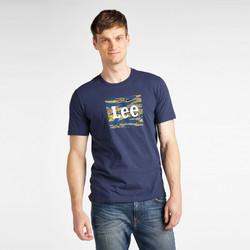 vaatteet Miehet Lyhythihainen t-paita Lee T-shirt  Camo Package Dark Navy bleu marine/jaune/blanc