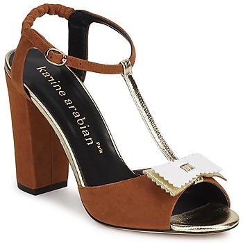 kengät Naiset Sandaalit ja avokkaat Karine Arabian ABBAZIA Hiekka / White / Dore