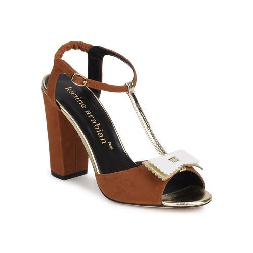 kengät Naiset Sandaalit ja avokkaat Karine Arabian ABBAZIA Hiekka / White / Kulta