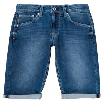 vaatteet Pojat Shortsit / Bermuda-shortsit Pepe jeans CASHED SHORT Blue