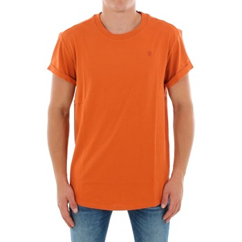 vaatteet Miehet Lyhythihainen t-paita G-Star Raw SHELO R T SS DUSTY ROYAL ORANGE Naranja